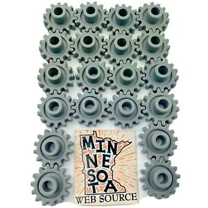 """20 Knex Small 1"""" Gray Gears - K'nex Education Replacement Parts"""