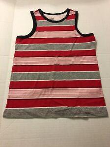 Boys Tank Top Shirt Sz L 10-12 Red