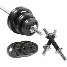 New listing Home Muscle Barbell Weight Set with Dumbbell Handles Standard Size Plates 110LB