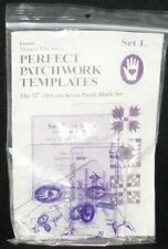 "Marti Michell Perfect Patchwork Templates Sz L 12"" Seven Patch Block Set 6 pcs"