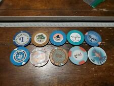 Lot Of 10 Assorted Casino Chips From Various Casinos