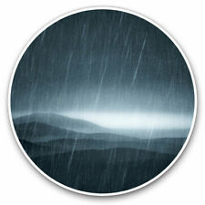 2 x Vinyl Stickers 7.5cm - Stormy Night Landscape Scene Cool Gift #3681