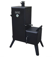 Outdoor Vertical Off-Set Charcoal Smoker Grill Bbq Barbecue Patio Cooking Black