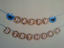 Sesame Street Cookie Monster Happy Birthday Banner, Personalized price change