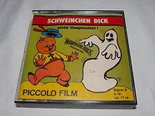 SUPER 8 FILM Schweinchen Dick sieht Gespenster s/w Piccolo Film ca.17m