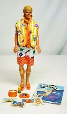 Vintage 1987 Mattel California Dreams Ken Barbie Doll #4441 with Comic Book