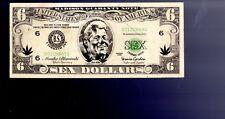 Novelty Dollar Bill Clinton 6 SEX Dollars