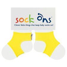 Sock Ons Sockenhalter Babysocken Small 0-6m Yellow NEU