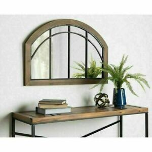 Farmhouse Mirror Modern Arched Window Pane Country Cottage Mantel Wall 24x36 New