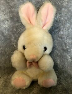 """Teddy Town By Rusco White Bunny Rabbit 8"""" Soft Toy"""