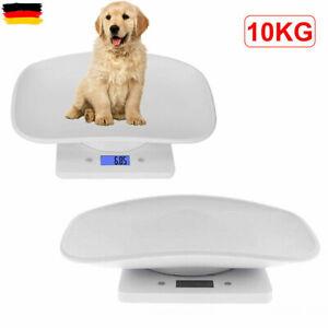 1/2x Elektronische Waage Haustierwaage Tierwaage Katzen Welpen Digitalwaage 10kg
