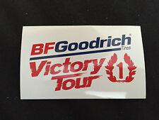 AUTOCOLLANT BF GOODRICH TIRES VICTORY TOUR 1 GOODIES RALLYING RALLYE