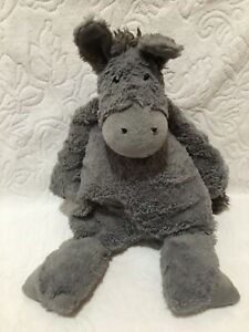 "RARE Jellycat London Dante Donkey 13"" Plush Animal Stuffed Toy Retired Gray"