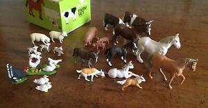 Vintage Britains Farm Animals. Sheep Dog. Suffolk Punch. Donkey. Turkey Etc.