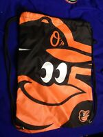 Baltimore Orioles Baseball MLB Drawstring Backpack Sack Bag Black