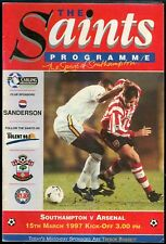 Football Programme - Southampton v Arsenal - Premiership - 15/3/1997