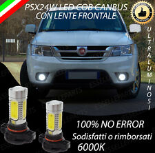 COPPIA LAMPADE FENDINEBBIA PSX24W LED COB CANBUS FIAT FREEMONT 6000K
