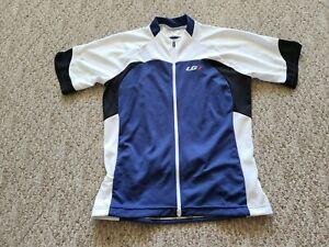EUC Louis Garneau Women's Full Zip Metz Cycling Jersey Color Blue Size 2XL XXL
