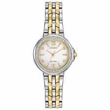 Citizen Eco-Drive Diamond Collection Women's EM0444-56A Two-Tone 28mm Watch