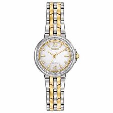 Citizen Eco-Drive Diamond Collection Women's Two-Tone 28mm Watch EM0444-56A
