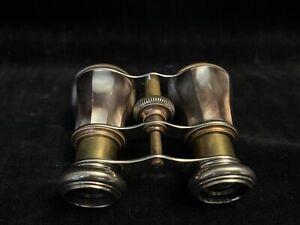 VTG~OPERA GLASSES/BINOCULARS~MOTHER OF PEARL~CHROME/BRASS FITTINGS~ADJUSTABLE