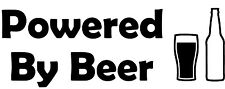 Powered By Beer Vinyl Decal Sticker for Car/Window/Wall