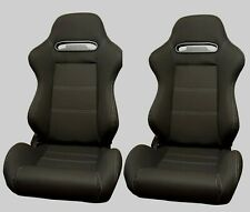 BUCKET RECLINING RECLINER TILTING SEATS BLACK RECARO STYLE BASE MOUNTED RENAULT