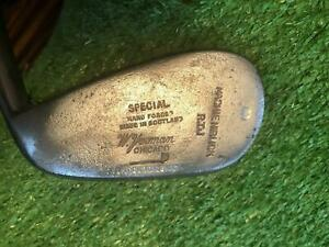 Vintage Antique TOM STEWART St Andrews MASHIE NIBLICK RTJ (Bobby Jones)7 iron