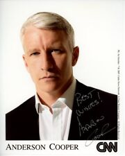 ANDERSON COOPER signed autographed CNN photo