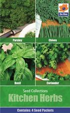 SEED Collection Pack - Kitchen HERB Seeds, PARSLEY, CORIANDER, CHIVES & BASIL