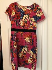 PREEN Pink Floral wiggle dress UK12 Smart Special Occasion Party Cruise