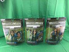 Lot Of 3 Wwf Wrestlemania Titan Tron Live Series 3 (Shelf Wear)