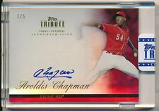 2012 Topps Tribute AROLDIS CHAPMAN Autograph On-Card Auto #1/5 RED SSP  = #1/1