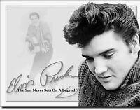 * Elvis Presley 50er Rockabilly Rock`n Roll Schild 50s Konzert Plakat *200
