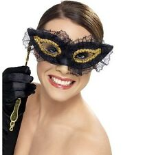 Masquerade Ball Fancy Dress Eye Mask Face Eyemask Fastidious Black by Smiffys