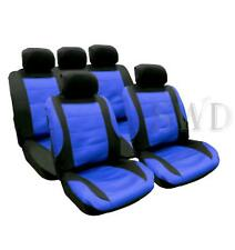 Cool Mesh Car Seat Cover Set BLUE Custom Racing Sports Universal Fit Protectors