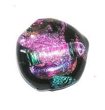 Glass Deb 188 /Cabochon Pendant/Necklace Handcrafted Dichroic