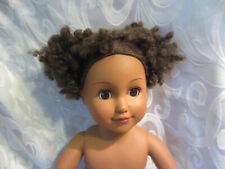 """H K City Toys Ethnic Doll Plush Base 19"""" Blinking Nude"""