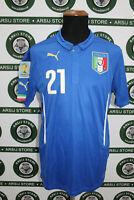Maglia calcio ITALIA PIRLO TG L 2014 shirt trikot maillot jersey camiseta