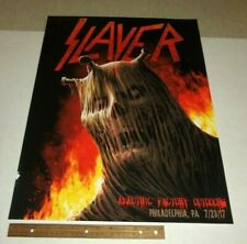 SLAYER Electric Factory Outdoors Philadelphia,PA 7/23/2017   Poster