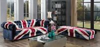 UNION JACK CHESTERFIELD TUFTED BUTTONED 2 SEATER PATCHWORK VELVET SOFA INSTOCK