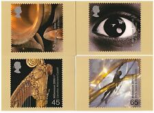 GREAT BRITAIN 2000 MILLENNIUM PROJECTS SOUND & VISION SET OF 4 MINT PHQ CARDS