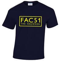 FAC 51 MENS T SHIRT THE HACIENDA ACID HOUSE RAVE 90'S RETRO MUSIC DJ
