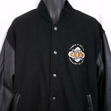 Super Bowl XXXV Mens Varsity Jacket Wool Leather Baltimore Ravens NY Giants L