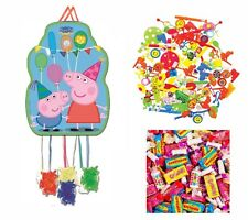 Kids CHARACTER PINATA + SWEETS TOYS Birthday Party Loot Toys Bag Favor Filler UK
