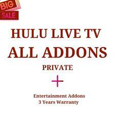 Hulu All Addons - Live Sport & TV | Lifetime Warranty - 100+ Channels
