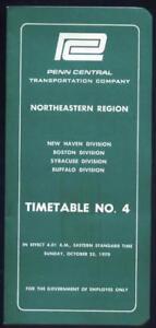 1970 Penn Central Railroad Northeastern Region Employee Timetable No. 4