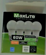 MaxLite 107757 9A19ND27/4P-180 9.5W 8Bulbs LED Non-Dimmable - Soft White 2 Pack
