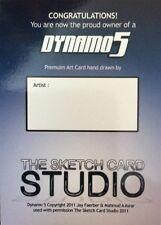 SALE! 2011 Dynamo 5 - 1 x Blank Sketch Card - Sketch Card Studio Sadlittles.com