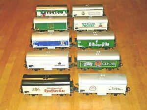 Märklin  4415 und andere...Konvolut verschiedene Kühlwagen / Bierwagen  10 Stück